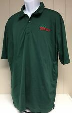 Hess Express Green Polo Shirt Work Gas Station Halloween Costume Oil Mini Mart