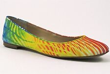 Nine West Women's Ourlove Ballet Flats Orange Multi Size 8.5 Medium (B, M)
