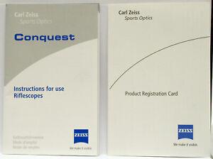 Original OEM ZEISS Conquest Sport Riflescope User / Owner's Manual - 2006