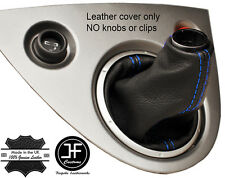 BLUE 2 STITCHING GENUINE LEATHER GEAR GAITER FOR HONDA CIVIC TYPE R EP3 01-05
