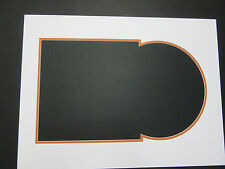 Photo Double Mat for Lp Vinyl Record and Cover White with Orange Juke Box Style