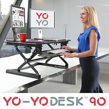 YO-YO DESK 90-Height Adjustable Standing Desk (BLACK).Superior sit-stand Desk.