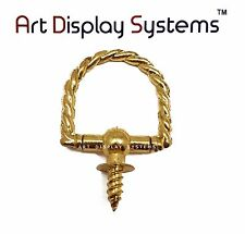 Art Display Systems Large Brass Braided Decorative Hanger – Pro Quality – 5 Pack