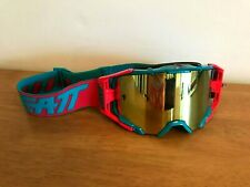 Leatt Geschwindigkeit 6.5 Iriz Abreißen Brille Enduro Rot/Blaugrün Bronze Linse