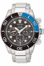 Seiko Men's SSC017 Prospex Solar Chrono Diver 200M Sports Stainless Steel Watch