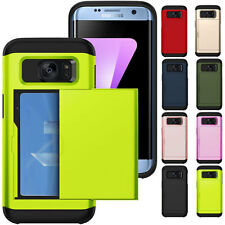 Credit Card Holder Wallet Slide Phone Case For iPhone X 5 6 7 8 Samsung S7 S8 S9
