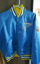 Mint 1980s Starter St Louis Blues NHL satin jacket Large Blue Gold Immaculate