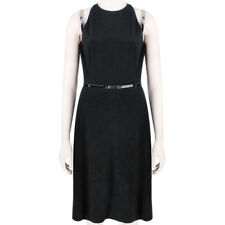 Marios Schwab Black Patent Leather Detail Halter Line Harness Dress US8 UK12