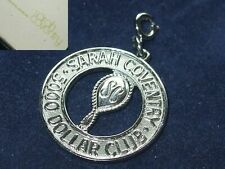 Charm 5000 Dollar Club Rep 70s Vintage Sarah Coventry Silver Plated Managers Fob