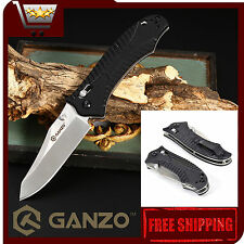 Authentic Knife GANZO G710-BK | 440C Steel | Axis Lock | G10 | Black