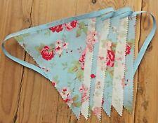 NEW Handmade Cath Kidston Rosali Bunting Banner. Blue & White Floral. 6.5 Feet