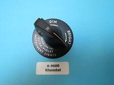 Grimes A-4600 Aircraft Instrument Light Rheostat Variable Resistor New Surplus