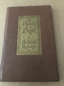 Archibald Rutledge Vintage Hardcover book Beauty of the Night
