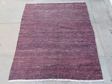Old Traditional Hand Made Persian Oriental Wool Red Brown Kilim 143x120m