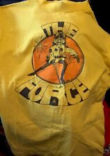 Vintage 1979's The Force Police Product News Anvil Brand Yellow Color T Shirt.