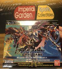 Juego de tarjeta TCG BANDAI Digimon-versión 1.5 Caja del aumentador de presión sellado de fábrica/W Dash PK