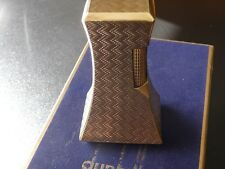 RARE DUNHILL GOLD PLATED 'WHEATSHEAF' TABLE LIGHTER - COMES BOXED