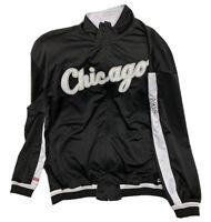 Stitches Chicago White Sox Warm Up Jacket Men's Size 2XL Full Zip Sewn MLB