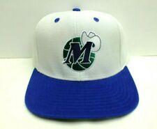 DALLAS MAVERICKS NBA HAT WHITE/BLUE FLAT BILL SNAPBACK ONE SIZE CAP ADIDAS NEW