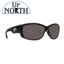 Costa Del Mar Luke Sunglasses Shiny Black Frame/Gray Lens 580P Authorized Dealer