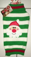 """Pet Central Boutique Christmas Dog Sweater Size S Striped 10"""""""