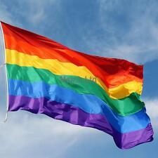 3 x 5 ft Gay LGBT Rainbow Gay Pride Striped Flag - Brand New