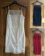 Topshop New Black White Floral Lace Bodycon Mini Dress  Size 6 - 10 BNWOT