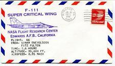 1975 F 111 Super Critical Wing Flight 66 Research Center Edwards Enevoldson NASA