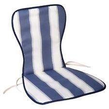 Cojin azul / blanco silla monoblock respaldo alto 78x48x2 cm. Saturnia