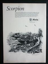 10/1972 PUB ALVIS BRITISH LEYLAND EBR CHAR LEGER SCORPION BLINDE FRENCH AD