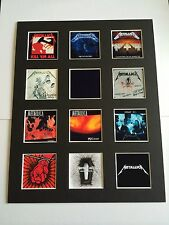 """Metallica 14"""" by 11"""" LP Discography Covers Picture Mounted Ready to Frame"""