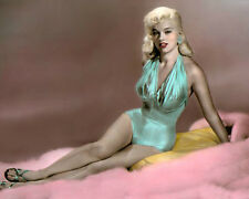 """DIANA DORS THE UNHOLY WIFE 1957 HOLLYWOOD ACTRESS 8x10"""" HAND COLOR TINTED PHOTO"""