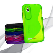 6 Colour Premium S Curve Jelly Case Cover for HTC Desire X / T328e Screenguard