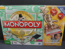 NEW MONOPOLY Family Championship Edition Board Game Trophy Gold Hotels NIB