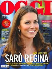 OGGI Magazine Kate Middleton,Pippa,Jovanotti,Michelle Williams,Jennifer Aniston
