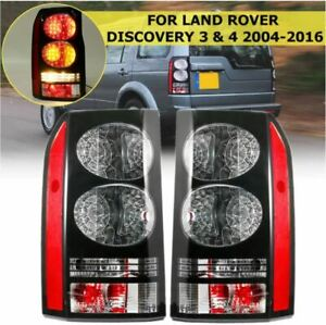 PAIR L&R REAR TAIL LIGHTS BRAKE 48-LED FOR LAND ROVER DISCOVERY 3 & 4 2004-2016