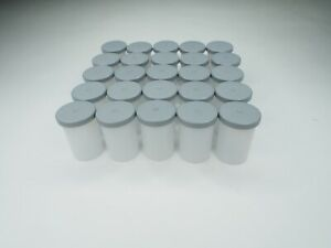 35mm Empty Film Canisters Clear with Gray Lids (Lot of 25 pcs)