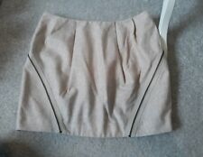 Topshop mini  Skirt Size 12 wool blend Oatmeal Excellent condition