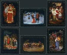 Russia 4554-4559,MNH.Michel 4581-4586. Folk tale paintings from Fedoskino,1977.