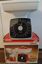 Original Krups Ideal 875, vintage Küchenwage weiss, Heftchen und Verpackung