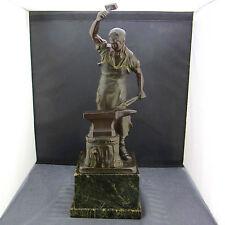 "alte Bronzefigur ""Schmied"" E.Saalmann ca. um 1900"