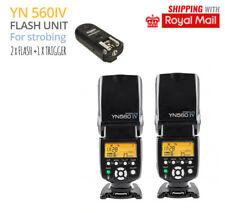 Strobing Kit 2 x Flash + Trigger Strobist Set For CANON 1000D 1100D 1200D 1300D