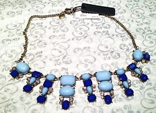 J.Crew Dangling Shapes Bib Necklace Blue Whilte Jewelry Statement Elegant JCREW