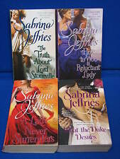 4 Lot Sabrina Jeffries Book What the Duke Desires A Lady Never Surrenders How to