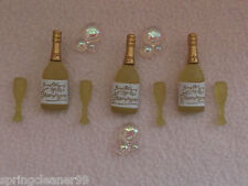 DRESS IT UP BUTTONS ~ CONGRATULATIONS! ~ CHAMPERS ~ CHAMPAGNE FLUTES ~ BUBBLES