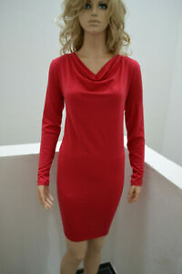 Wolford Cool Wool Dress Kleid rot red Lipstick knielang Small
