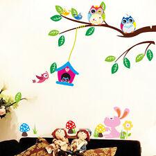 Wandtattoo Wandsticker Vogelnest Eulen  dekorativ Kinderzimmer Kind Baby #35