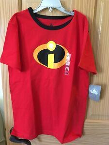 New Disney Store The Incredibles Boys Tee Shirt Top Red Pixar