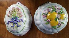 Le Cordon Bleu Franklin Mint Decorative Molds Asparagus & Lemon Motifs Thailand