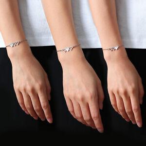 Stainless Steel Best Friend Bracelet for 3 Sister Jewelry Bangle Gift Friendship